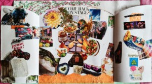 Art-therapy session with collage with Florence Liard